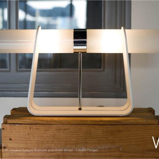 Verre Vs Corian – Lampe 3.14 – Création François Bazenant pour Verart design – © Bruno Clergue