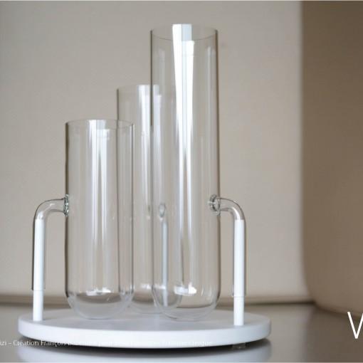 Verre Vs Corian – Vase pizi – Création François Bazenant pour Verart design – © Bruno Clergue