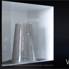 Verre Vs Cote de maille - Grand vase - Création Claire Le Sage et Pascale Lion pour Verart design - © Bruno Clergue