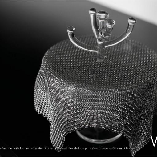 Verre Vs Cote de maille – Grande boîte baguier – Création Claire Le Sage et Pascale Lion pour Verart design – © Bruno Clergue(2)