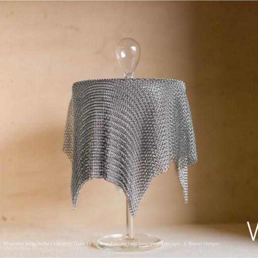 Verre Vs Cote de maille – Moyenne boîte bulle – Création Claire Le Sage et Pascale Lion pour Verart design – © Bruno Clergue(2)