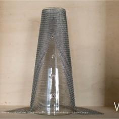 Verre Vs Cote de maille - Vase fin - Création Claire Le Sage et Pascale Lion pour Verart design - © Bruno Clergue