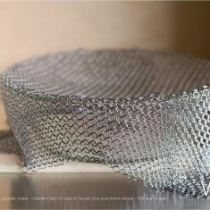 Verre Vs Cote de maille - Grande coupe - Création Claire Le Sage et Pascale Lion pour Verart design - © Bruno Clergue